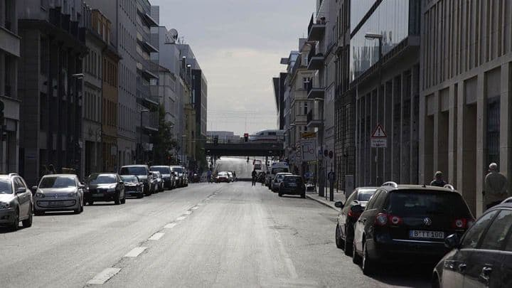 Street With Bridge