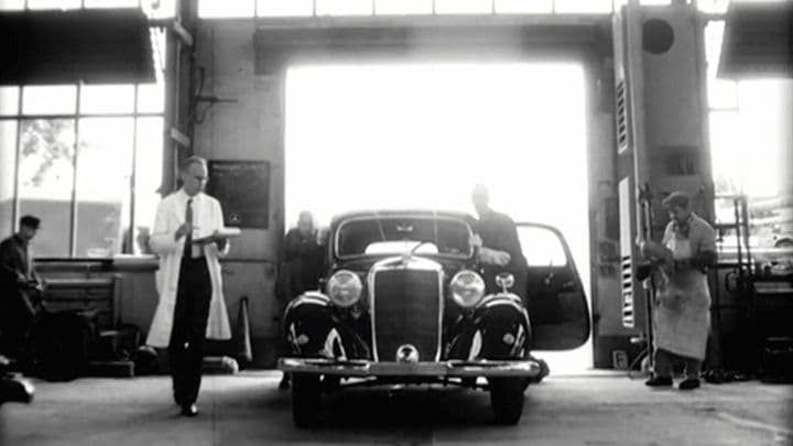 Mercedes Benz, Production Line Commercial Shotz BerlinA single continuous camera movement through the years depicts the history of Mercedes Benz till our day, when the new E Class is introduced in the impressive factory of the Daimler AG. Mixing old footage with exquisite french CGI this Car Commercial is as elegant and timeless as its product. film production service, production servivce network and global production network